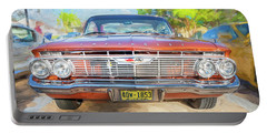 Portable Battery Charger featuring the photograph 1961 Chevrolet Impala Ss  by Rich Franco