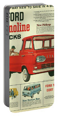 1961 Ford Econoline Vintage Ad Portable Battery Charger