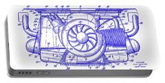 1962 Porsche Engine Patent Blueprint Portable Battery Charger