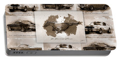 1965 Ford Mustang Collage I Portable Battery Charger by Gary Bodnar