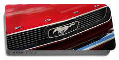 Portable Battery Charger featuring the photograph 1966 Ford Mustang by Gordon Dean II
