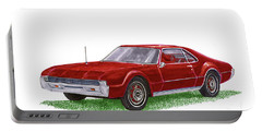 Portable Battery Charger featuring the painting 1966 Oldsmobile Toronado by Jack Pumphrey