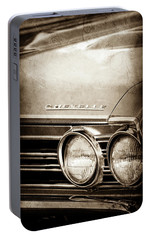 Portable Battery Charger featuring the photograph 1967 Chevrolet Chevelle Ss Super Sport Emblem -0413s by Jill Reger