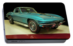 Portable Battery Charger featuring the digital art 1967 Chevrolet Corvette 2 by Chris Flees