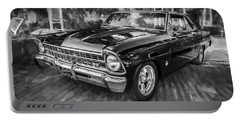1967 Chevrolet Nova Super Sport Painted Bw 1 Portable Battery Charger