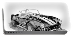 Portable Battery Charger featuring the painting 1967 Cobra Sc by Jack Pumphrey