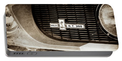Portable Battery Charger featuring the photograph 1967 Ford Gt 350 Shelby Clone Grille Emblem -0759s by Jill Reger