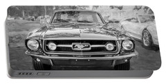 1967 Ford Mustang Coupe Bw C122 Portable Battery Charger by Rich Franco