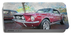 1967 Ford Mustang Coupe C117 Portable Battery Charger by Rich Franco