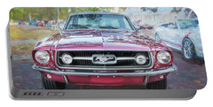 1967 Ford Mustang Coupe C118  Portable Battery Charger by Rich Franco