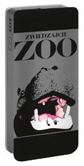 1967 Poland Zoo Hippopotamus Poster Portable Battery Charger