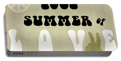1967 Summer Of Love Newspaper Portable Battery Charger