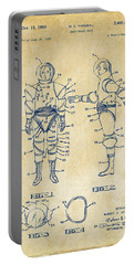 1968 Hard Space Suit Patent Artwork - Vintage Portable Battery Charger by Nikki Marie Smith