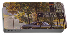 1968 Pontiac Gto - Woodward - The Great One By Pontiac Portable Battery Charger