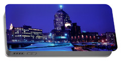 Portable Battery Charger featuring the photograph  1969 Boston Twilight by Historic Image