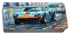 1969 Le Mans 24 Ford Gt 40 Ickx Oliver Winner  Portable Battery Charger