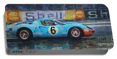 1969 Le Mans 24 Ford Gt40 Jacky Ickx Jackie Oliver Winner Portable Battery Charger