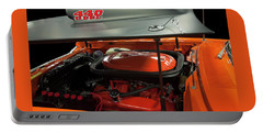 Portable Battery Charger featuring the painting 1969 Plymouth Road Runner A12 440 6 Pack by Chris Flees