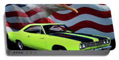 1969 Plymouth Road Runner Tribute Portable Battery Charger by Peter Piatt