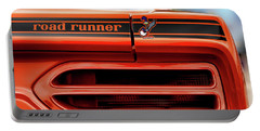1970 Plymouth Road Runner - Vitamin C Orange Portable Battery Charger by Gordon Dean II