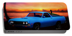 1970 Ranchero Dominican Beach Sunrise Portable Battery Charger