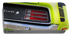 1970 Sublime Green Hemi 'cuda  Portable Battery Charger