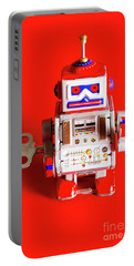 1970s Wind Up Dancing Robot Portable Battery Charger
