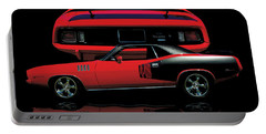 1971 Plymouth Cuda 440 Six Pack    Portable Battery Charger by Peter Piatt