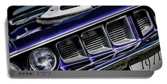 Portable Battery Charger featuring the photograph 1971 Shaker Cuda by Brad Allen Fine Art