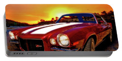 1971 Z28 Camaro Hdr Vivid Remembrance Portable Battery Charger