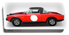 1972 Fiat 124 Spider Abarth Illustration Portable Battery Charger