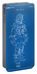 1973 Astronaut Space Suit Patent Artwork - Blueprint Portable Battery Charger by Nikki Marie Smith