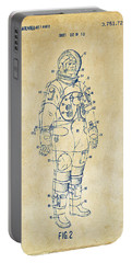 1973 Astronaut Space Suit Patent Artwork - Vintage Portable Battery Charger by Nikki Marie Smith
