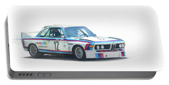 1973 Bmw Csl 3.0 Batmobile Portable Battery Charger by Roger Lighterness