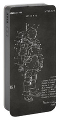 1973 Space Suit Patent Inventors Artwork - Gray Portable Battery Charger by Nikki Marie Smith