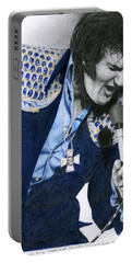 1975 Dark Blue Two Piece Suit Blue Gold Ornaments Portable Battery Charger