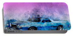 1979 Ranchero Watercolour Of The Last Sport Pickup Truck Portable Battery Charger