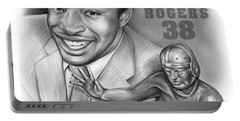 1980 Heisman Winner Portable Battery Charger by Greg Joens