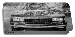 1987 Chevrolet Monte Carlo Ss Coupe Bw C122  Portable Battery Charger by Rich Franco