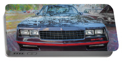 1987 Chevrolet Monte Carlo Ss Coupe C120 Portable Battery Charger by Rich Franco