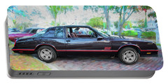 1987 Chevrolet Monte Carlo Ss Coupe C121 Portable Battery Charger by Rich Franco