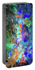 Portable Battery Charger featuring the painting 1988.033014invert by Kris Haas