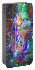 Portable Battery Charger featuring the painting 1989.033014invert by Kris Haas