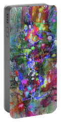 Portable Battery Charger featuring the painting 1989.033014invertfadediff by Kris Haas