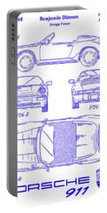 1990 Porsche 911 Patent Blueprint Portable Battery Charger