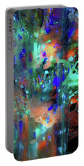 Portable Battery Charger featuring the painting 1990.033014invert by Kris Haas