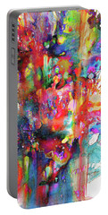 Portable Battery Charger featuring the painting 1990.033014invertfadediff by Kris Haas