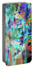 Portable Battery Charger featuring the painting 1990.033014invertx2 by Kris Haas