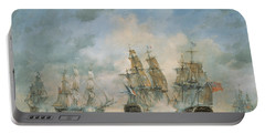 19th Century Naval Engagement In Home Waters Portable Battery Charger