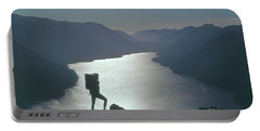Portable Battery Charger featuring the photograph 1a4042 Silhouette At Crescent Lake Wa by Ed Cooper Photography